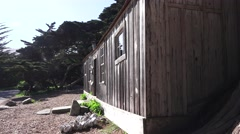 Early whale rendering cabin , Point Lobos State Park, Stock Footage