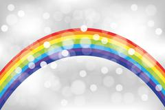 Shimmering abstract rainbow background - stock illustration