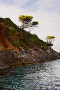 Coastal landscape in Zakynthos island, Greece - stock photo