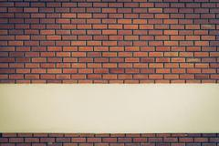 Stock Photo of design of brick wall background with cement white line