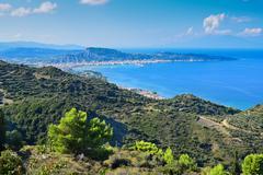 Lookout from Mount Scopos in Zakynthos island, Greece Stock Photos
