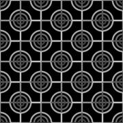 Seamless Abstract Modern Pattern from Circles and Lines Stock Illustration