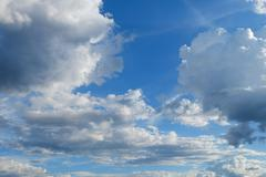 Beautiful cloud flowing in the blue sky, image open sky weather meteorology b Stock Photos