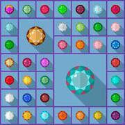 Stock Illustration of Vector gems round