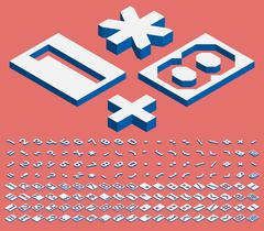 Isometric numbers and punctuation marks Stock Illustration