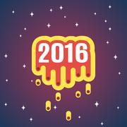 Comet vector 2016 Stock Illustration