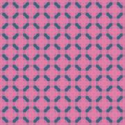 Seamless Abstract Modern Pattern from Circles and Lines - stock illustration
