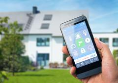 Smart Home Device - Home Automation - Internet of Things - stock photo