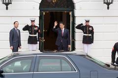 Japanese Prime Minister Shinzo Abe Stock Photos