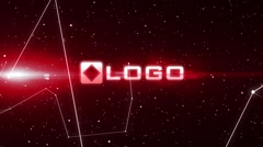 Dark Abstract 3D Elements Red Light Technology Business Logo Reveal Stinger - stock after effects