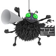 3d render of a spider making a movie Stock Illustration