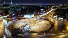 Traffic of night road, Time Lapse, Russia - stock footage