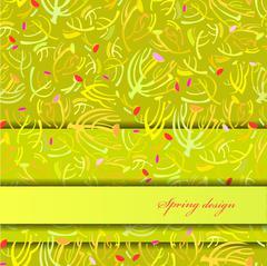 Green sprig background. - stock illustration