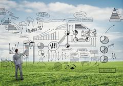 Successful marketing plan Stock Photos
