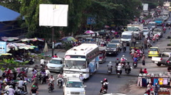 A typical S.E. Asia Street at rush hour. - stock footage