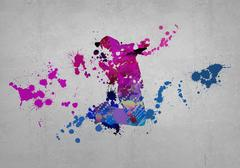 Abstract dancer Stock Illustration
