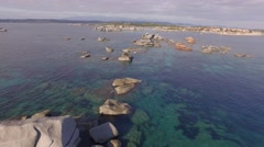 Aerial Corsica Drone cavallo island Stock Footage