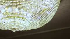 Luxury crystals of a classic chandelier. Stock Footage