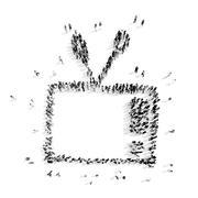 People shape  television cartoon Piirros