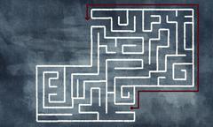 Labyrinth pattern Stock Illustration