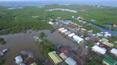 Aerial of houses in Honduras - stock footage
