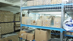 Warehouse of spare parts Stock Footage