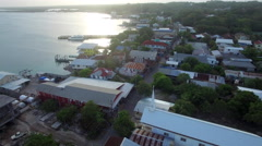 Aerial of suburban houses in Honduras Stock Footage