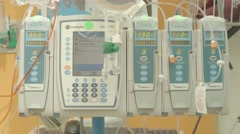 Cancer Patient IV Drip with Manitol in Hospital. Stock Footage