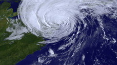 Hurricane. Satellite view. Monitoring. - stock footage