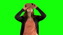 Virtual reality head set Stock Footage