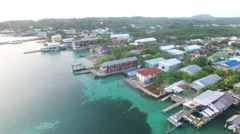 Aerial of suburban houses in Honduras - stock footage