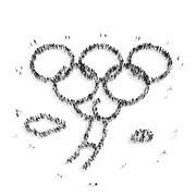 people  shape  man olympiad - stock illustration