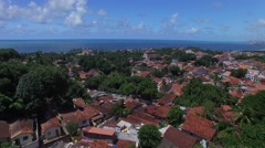 Flying over Olinda located in Pernambuco State, Brazil Stock Footage