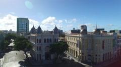 Buildings in Marco Zero in Recife, Pernambuco State, Brazil Stock Footage