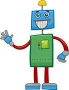 robot fantasy character - stock illustration