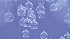 Glass spheres. Beautiful background. - stock footage