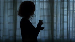 desire of closure and loneliness of a sad woman - stock footage