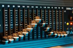 Graphic sound equalizer Stock Photos