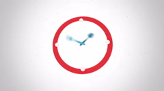 Lunch time clock symbol flat animation - stock footage
