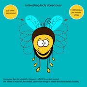 Interesting fact about bees - stock illustration