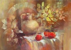 Still life handmade painting Stock Illustration