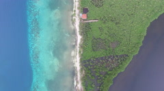Aerial of island in Honduras Stock Footage