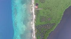 Aerial of island in Honduras - stock footage