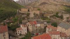 Aerial Corsica Drone corte city citadel Stock Footage