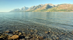 Jackson Lake in Wyoming Stock Footage
