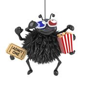 3d render of a spider eating popcorn whilst watching a 3d movie Stock Illustration