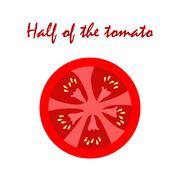 Half of the tomato - stock illustration