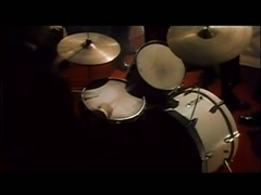 Musician playing drum roll before event at nightclub, 1960s Stock Footage