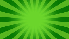 Green Burst vector background. - stock footage