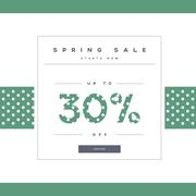 Spring sale banner with elegant typography for luxury sales offers in fashion - stock illustration
